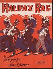 Halifax Rag 1910 Large Format Sheet Music