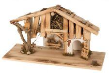 Krippen Stall Holzhütte Haus aus Holz Krippenszene Christi Geburt 60 x 33 cm neu