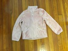 Children's Place Girls Jacket Soft Shell Faux Fur Pink Size M 7 / 8