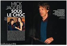 Coupure de presse Clipping 2014 (6 pages) Mick jagger Mort de L'Wren Scott