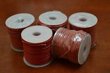 5 ROLLS - 50 METERS RED LEATHER BEADING CORD STRING 2MM #T-953