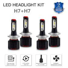 BEVINSEE 4x H7 For Hyundai Santa Fe 07-08 17-18 LED Headlight Hi Low 6500K Bulbs