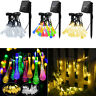 7m 30 LED Solar Powered Garden Party Crystal Drop Fairy String Lights Outdoor