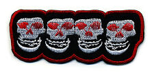 MISFITS patch badge punk rock skull crimson ghost skulls