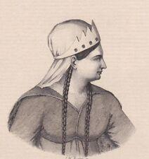 Eau Forte Mademoiselle Leroy Louise Marie Sophie 1787-1838 Actrice Théâtre
