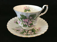 MAYFLOWER Royal Albert Bone China FOOTED TEA CUP & SAUCER Made in England