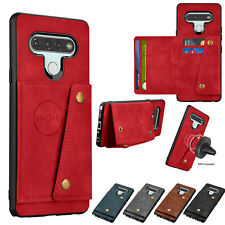 For LG Stylo 6 Phone Case Leather Magnetic Mount Wallet Cases Hybrid Cover