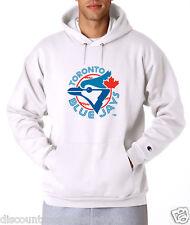 Toronto Blue Jays Throwback Logo Champion Hoodie Pullover Jumper Sweatshirt Mens