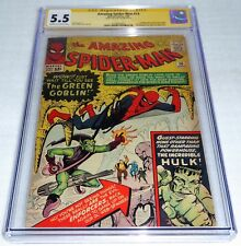 Amazing Spider-Man #14 CGC Signature Autograph STAN LEE 1st Green Goblin Hulk 55