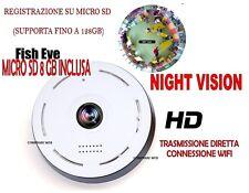 VIDEO CAMERA + 8 GB FULL HD ROTATING WIFI IP 720P WIRELESS LED IR LAN 360°
