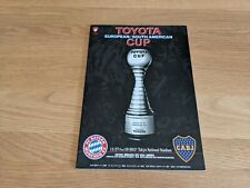 More details for 2001 toyota european/south american cup - bayern munich v boca juniors @ japan