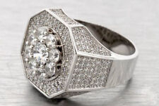 3.00 Ct Round Cut Diamond Ring Men's Engagement Band Wedding White Gold Plated