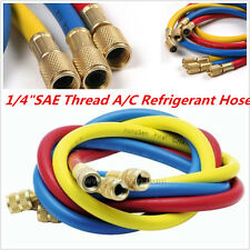 """1M 3Color 1/4""""SAE Thread A/C Refrigerant R134a Air Conditioning Charging Hoses"""