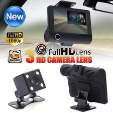 """HD DVR Voiture 1080P 4"""" Double lentille de recul vidéo Dash Cam Enregistreur Caméra G-sensor"""