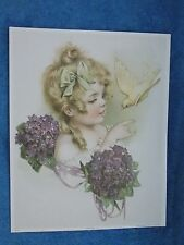 Come Here  Victorian Girl With Dove  Print Picture