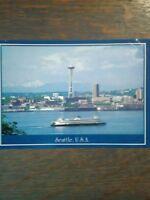 the vintage jumbo class ferry SEATTLE WASHINGTON PHOTO POST CARD PUGET SOUND FER