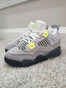 NIKE Air Jordan IV 4 Retro SE Shoes - Neon Gray - Toddler Size 9C - CT5345 007