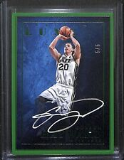 2015-16 Panini Luxe Green Autograph #LX-GHW Gordon Hayward No 5 of 5