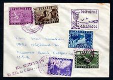 Ecuador / Galapagos Islands - Barrel Mailbox Cover to USA