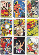 MARVEL 70 YEARS 70TH ANNIVERSARY 2010 RITTENHOUSE COMPLETE BASE CARD SET OF 72