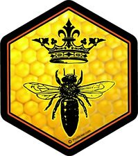 "1 - 4"" Queen Bee Decal Sticker Beekeeping Skep Beehive Honey Crown  2143"
