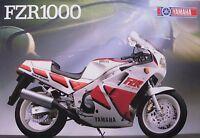 Yamaha FZR1000 Motorcycle Brochure Sheet, Original German Text