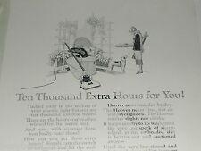 1924 Hoover vacuum cleaner advertisement, golfing 20's era Flapper