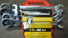 "K-D Tools 9703 SAE 4 Pcs Flex Head XL Gear wrench 13/16.7/8,15/16,1"" w/13pc rack"