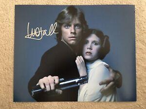 Genuine Hand Signed Star Wars Picture By Mark Hamill, Luke Skywalker