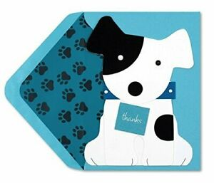 Papyrus Thank You Card Dog Holding Thank You Sign