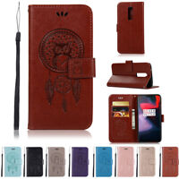 Flip Magnetic Card Slots Wallet PU Leather Case Stand Cover Skin For OnePlus 6
