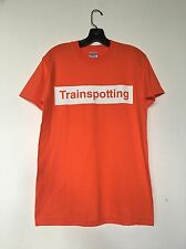 Vintage Trainspotting T shirt box logo Movie Soundtrack 90s Orange tee Size M