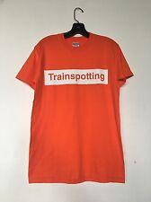 Vintage Trainspotting T shirt box logo Movie Soundtrack 90s Orange tee Size S