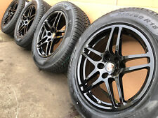 4 x original 18 Zoll Porsche Macan S Diesel Winterradsatz RDK NEU Black Schwarz