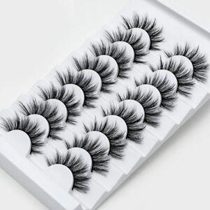 8Pairs 3D Natural Mink Lashes Long Thick Mixed Fake EyeLashes Makeup False Lash