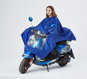 Women Men Bike Outdoor Cycling Hooded Raincoat Waterproof Rain Cape Poncho Coat