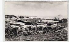 KNOWESIDE CARAVAN PARK AND AILSA CRAIG: Ayrshire postcard (C21082)