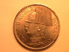 1937 ROMANIA 50 Lei Lustrous Ch BU Scarce Romanian Fifty Lei Uncirculated Coin