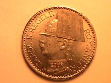 1937 ROMANIA 50 Lei Lustrous Ch BU Scarce Romanian Fifty Lei Uncirculated Coin