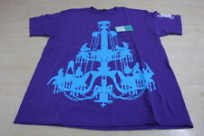 VINTAGE IN4MATION CHANDELIER TEE SHIRT PURPLE TEAL BLUE LARGE L IN4M BOX LOGO