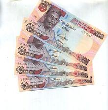 2005 Nigeria 100 Naira 4 Consecutivley Numbered Notes 8781E