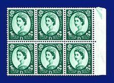 1966 SG618 1s3d Green S147 Marginal Block (6) MNH CV £11.40 ankr