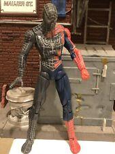 Spiderman 3 Half Symbiote Takeover Black Suited Figure Marvel 2008 Hasbro Toybiz
