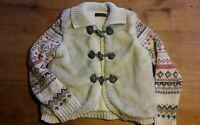 gilet pull veste CATIMINI 8 - 10 ans fausse fourrure blanc polaire bon etat