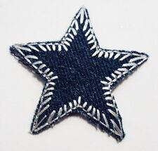 Patches//B/ügelflicken Stern dunkel blau gestreift 11,5 cm