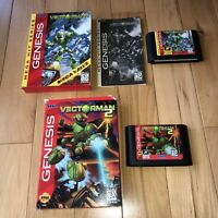 VECTORMAN 1&2 Sega Genesis Game LOT OF 2! 1 Is Complete Original Authentic Rare