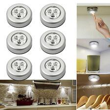 6 x LED Touch Push Licht Selbstklebend Unterbau Lampe Küchen Schrank Leuchte Set