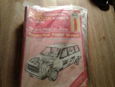 Haynes Repair Manual Dodge Caravan & Plymouth Voyager 1984-1989 Mini-vans 1231
