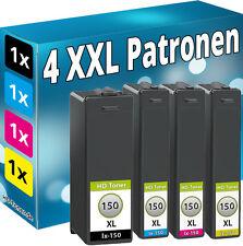 4 TINTE PATRONEN für Lexmark 150XL Interpret S315 S415 S515 Pro715 Pro910 Pro915