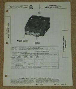 Coronado Automobile Radio SAMS Photofact schematic sheets 35RA2-43-5101A